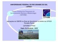 Aplicações do CBERS na Área de Geociência no ... - INPE/OBT/DGI