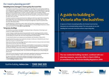A guide to building in Victoria after the bushfires - Weepa