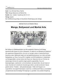 Manga, Bollywood und Martial Arts - Mediaculture online