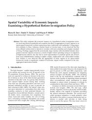 Spatial Variability of Economic Impacts: Examining ... - AgEcon Search