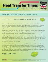 January 2010 News - Heat Transfer Products, Inc
