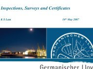Inspection, Survey and Certificates - General Insurance Association ...