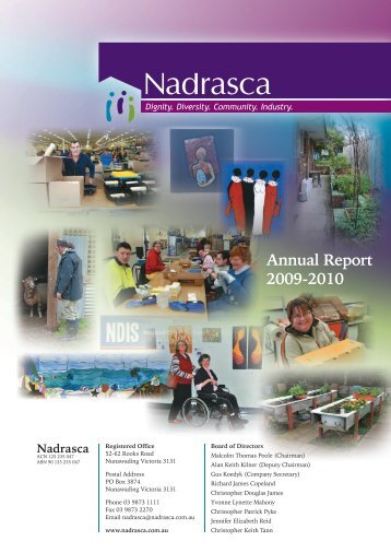 Nadrasca Annual Report 09/10 Abridged