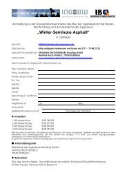 """Winter-Seminare Asphalt"" - Akademie der Ingenieure AkadIng GmbH"