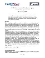 Artificial Intervertebral Disc: Lumbar Spine - HealthNow New York