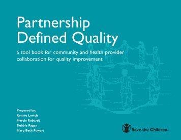Partnership Defined Quality - K4Health