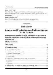 Radio aktiv - Analyse und Produktion von ... - Mediaculture online