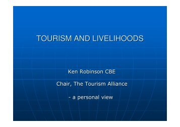 TOURISM AND LIVELIHOODS - Harold Goodwin