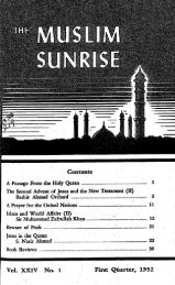 1952 - The Muslim Sunrise
