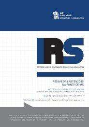 REGIME DAS RETENÇÕES NA FONTE DE IRS - Portal das Finanças