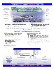 2006 International Joint Topical Meeting - European Nuclear Society