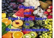 Obesity Food Supply Issues in Remote Communities (Roy Price)