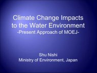 Climate Change Impacts to the Water Environment - WEPA