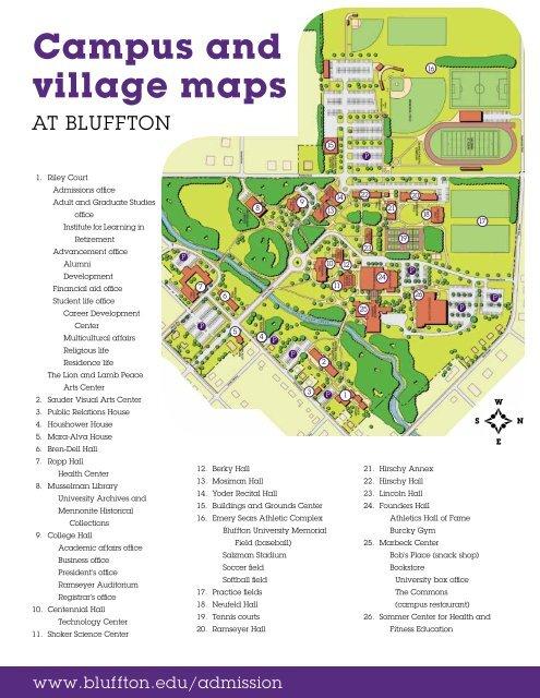 Campus map - Bluffton University