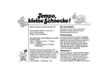Tempo Kleine Schnecke Anleitung