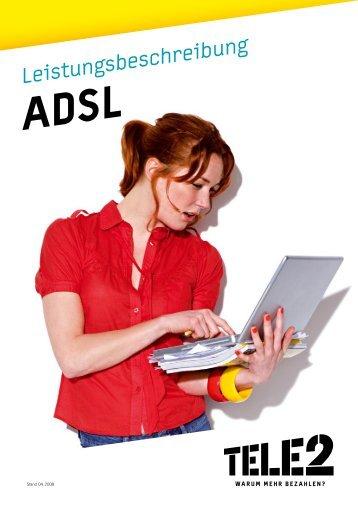 Tele2 ADSL Leistungsbeschreibung Stand April 2008 (PDF)