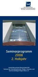 Seminarprogramm 2008 2. Halbjahr - DIESE GMBH