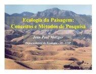 Ecologia da Paisagem: Conceitos e Métodos de Pesquisa