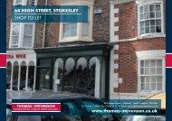 64 HigH Street, StokeSley SHOP TO LET www.thomas-stevenson.co ...