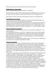 Mediengebrauch - Jugend online 2007.04.12 - Oberstufe Elsau-Schlatt