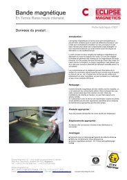 Aimant bande pdf - Eclipse Magnetics
