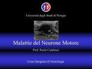 Lezione SLA - Università degli Studi di Perugia