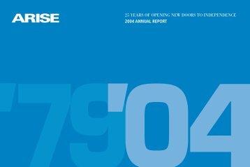 2004 Annual Report - Arise