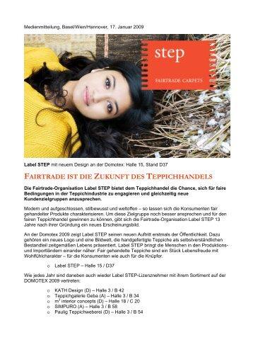 fairtrade ist die zukunft des teppichhandels - Label STEP