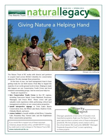 Spring Newsletter 2013 - Nature Trust of British Columbia