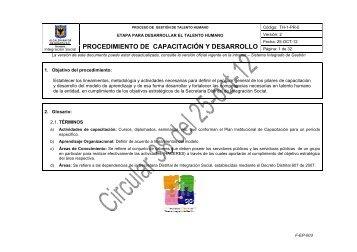PROCEDIMIENTO DE CAPACITACIÓN Y ... - Página principal