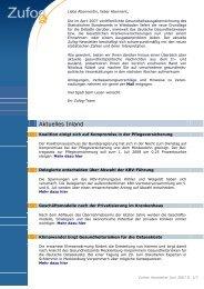 zurück zum Newsletter Juni 2007 - Zukunftsforum Gesundheitspolitik