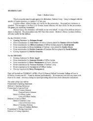 MURDER CASE State v. Darlene Linzy - Jones College Prep