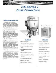 HA Series I Dust Collectors - Thermal Spray Products - HAI Inc.