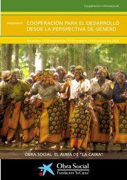 cooperación para el desarrollo desde la perspectiva de género