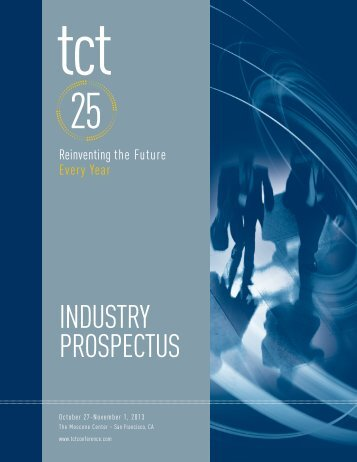 Download the TCT 2013 Industry Prospectus (5.2 MB PDF)