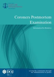 Coroner's Postmortem Examination - Northern Ireland Court Service ...