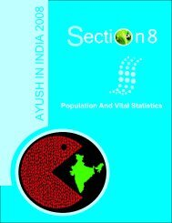 Section 8 Population and Vital Statistics
