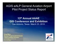 AGIS eALP General Aviation Airport Pilot Project Status Report
