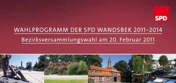 Wahlprogramm der Spd WandSbek 2011‒2014 - SPD-Fraktion ...