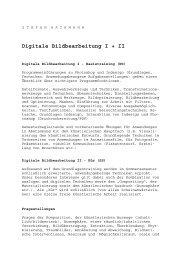 Digitale Bildbearbeitung I + II