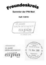 Sammler der PIN Mail - von Klaus-Dieter Stamm