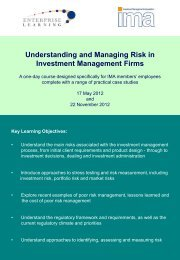 Understanding and Managing Risk in Investment Management Firms