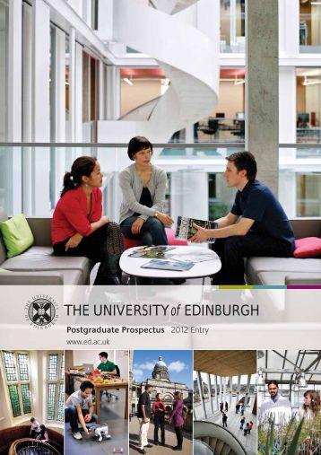 Postgraduate Prospectus - University of Edinburgh