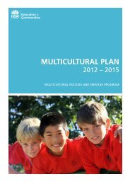 Multicultural Plan 2012-2015 - NSW Strategic Communications