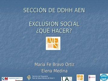 Exclusión Social. ¿Qué Hacer? - Asociación Española de ...