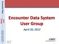 Encounter Data System User Group - CSSC Operations