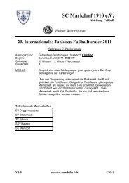 20. Internationales Junioren-Fußballturnier 2011 - SC Markdorf  ...