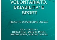 Volontariato, disabilità e sport - Marketing sociale e Comunicazione ...