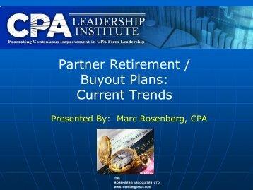 Partner Retirement / Buyout Plans: Current Trends - CPAReport