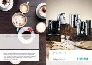 Coffee machines from Siemens. Die Zukunft zieht ein ...